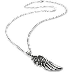 Jstyle Stainless Steel Wing Necklace Gothic Pendant Necklace for Men... (13 CAD) ❤ liked on Polyvore featuring men's fashion, men's jewelry, men's necklaces, mens stainless steel necklace and mens angel wing necklace
