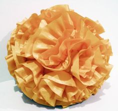 light gold ruffled filled  round pouf fluffy cushion gold