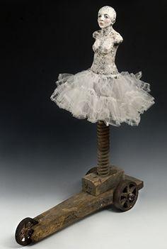 Elissa Farrow Savos industrial style dress form assemblage