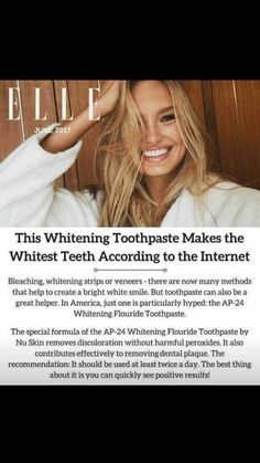 is the BEST whitening toothpaste there is out there! Make sure to order yours! No sensitivity Ap 24 Whitening Toothpaste, Best Teeth Whitening, White Smile, Dental Surgery, Cosmetic Dentistry, White Teeth, Anti Aging Skin Care, Health And Beauty, Beauty Uk