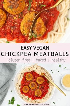 This homemade vegan chickpea meatballs recipe is healthy, satisfying, baked, quick and also so easy to make! These Italian inspired vegetarian meatballs are gluten free, customizable and simple! I know you can make vegan lentil meatballs but using chickpeas is another great way! I love making them for a meatball sub sandwich. You can also make them spicy! Customizable so add zucchini, roasted red pepper or mushroom if you want to try! #veganchickpeameatballs #vegan #chickpeas #easy #healthy Chickpea Meatballs Recipe, Lentil Meatballs, Vegetarian Meatballs, Chickpea Recipes, Vegetarian Recipes Dinner, Vegan Dinners, Healthy Recipes, Free Recipes, Healthy Foods