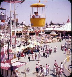 Fantasyland from the cable car 1957 by Bruce Thomas