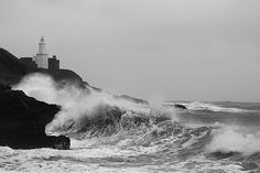 Mumbles Lighthouse. Stormforce