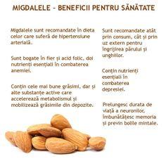 MIGDALELE - 12 beneficii tamaduitoare