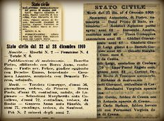 Italian Newspapers Digitized    Some Italian newspapers are being digitized and put online. In some of these newspapers appear vital registration news, such as deaths and marriage publications. That's, of course, interesting for genealogists.
