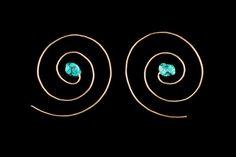 SLAE- Tribel Spiral Gold filled 14K Earrings #jewelry #earrings #wirewrapped @EtsyMktgTool http://etsy.me/2i7IYSZ