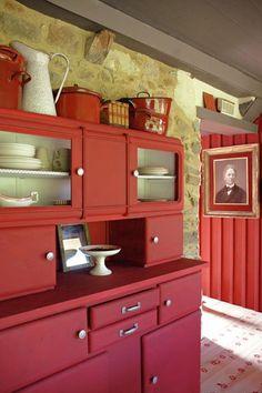 buffet-annees-60-relooké - meuble peint - painted furniture