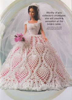Fashion Doll's Wedding Dress Crochet Pattern