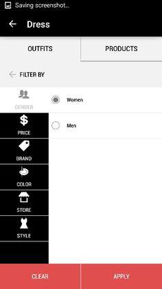 Mod app mobile search page filters Mod App, Search Page, Sorting, Mobile App, Filters, How To Apply, Design