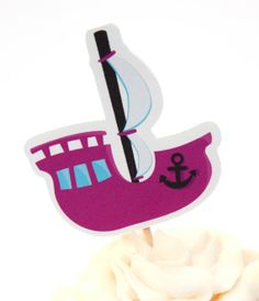 Pirate Girl Party  Set of 12 Pink Pirate Ship by TheBirthdayHouse, $6.00