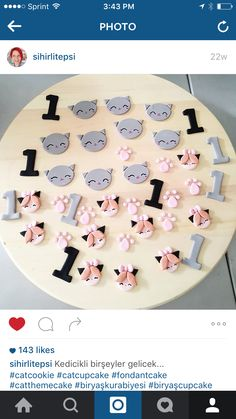 Cat cupcake toppers