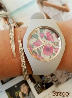 Lovely combination for the spring summer with Michael Kors bracelet & Ice Watch Flower