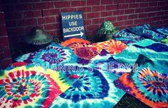 Design your own tie dye bandana Hippies by ShannasTieDye on Etsy, $10.00