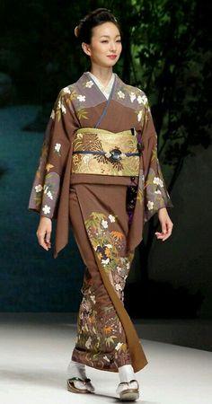Kimono in contemporary runway show