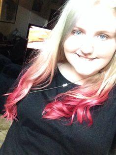 Pink dip dye :)