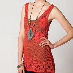 NWT Free People Engineered Crochet Tank Top NEW Free People Engineered Crochet Tank Top! Beautiful detailed design! Size Medium. New with tags! Originally 78.00! Free People Tops Blouses