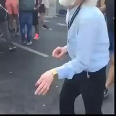 Put what music you want in the background. - 9GAG love this dancing man!