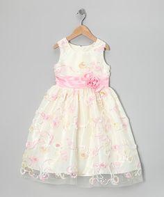 Look what I found on #zulily! Cream Soutache Dress - Toddler & Girls by Jayne Copeland #zulilyfinds