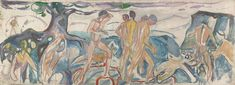 The human mountain » Munch's Ekely - War 1918–19 / Oil on canvas / 109,5 x 234 cm Munch Museum