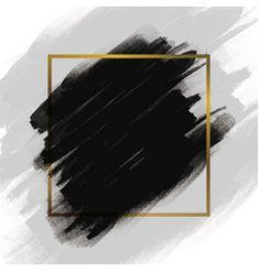 Black brush stroke with gold frame vector image on VectorStock Poster Background Design, Banner Background Images, Background Patterns, Frame Background, Black Backgrounds, Wallpaper Backgrounds, Abstract Backgrounds, Abstract Art, Gold And Black Background