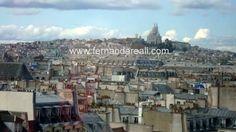 Vista de paris do alto do Centro George Pompidou. Georges Pompidou Center, Paris