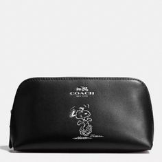 NWT Coach Snoopy Cosmetic bag! Sold out in stores! Super cute authentic Coach makeup bag in black. My last one! Coach Bags Cosmetic Bags & Cases