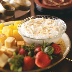 Pina Colada Fruit Dip Recipe is shared by Shelly Fisher, Hermiston, Oregon