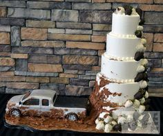 This is the most creative and fun looking wedding cake idea ever