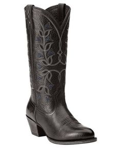 Ariat-Womens-Desert-Holly-Cowboy-Western-Boots-Old-West-Black-10014099