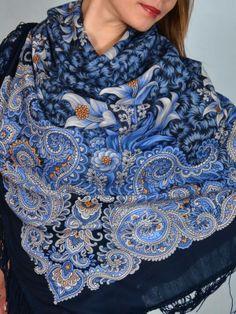 Russian Pavlovsky Posad shawl. I have this shawl and I love it.