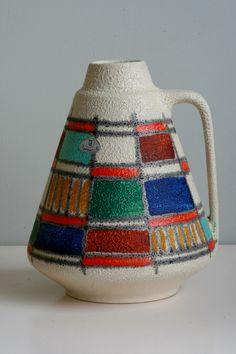 Ü-Keramik vase, moulded mark: 1506-18, 1950s