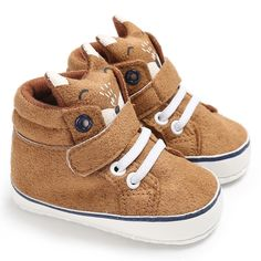 1 Pair Autumn Baby Shoes Kid Boy Girl Fox Head Lace Cotton Cloth First Walker Anti-slip Soft Sole Toddler Sneaker - Kid Shop Global - Kids & Baby Shop Online - baby & kids clothing, toys for baby & kid Toddler Sneakers, Baby Sneakers, Sneakers For Sale, Toddler Shoes, Infant Toddler, Toddler Girls, Baby Boys, Newborn Boys, Shoes Sneakers
