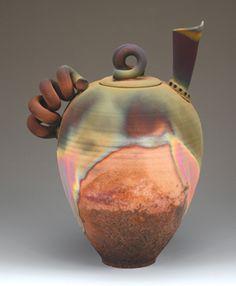 friday with a reception from 5 7 p m at the art center 600 phoenix st Pottery Teapots, Raku Pottery, Teapots And Cups, Ceramic Teapots, Ceramic Art, Teapot Cookies, Art Nouveau, Teapots Unique, Tea Art