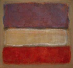 Mark Rothko, Untitled (Purple, White, and Red), 1953, olieverf op doek, 198 x 208 cm, Art Institute of Chicago, Chicago, Illinois. Zie voor een  biografie: http://www.artsalonholland.nl/grote-meesters-kunstgeschiedenis/mark-rothko