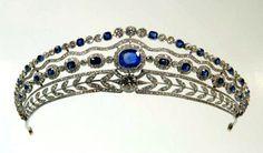 Belle Epoque Bandeau Tiara (1910; made by Mellerio; sapphires, diamonds).