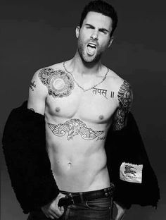 Adam Levine mouth is open for a dick to be stuffed in maybe then he'll stop singing Adam Noah Levine, Gorgeous Men, Beautiful People, The Voice, Hot Guys, Hot Men, Muscles, Like4like, Models