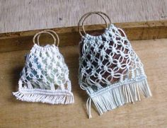 macramé bags to make in miniature - French