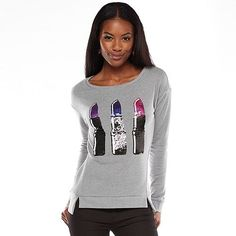 Juicy Couture Embellished Graphic French Terry Sweatshirt - Women's