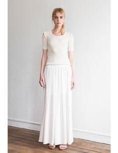 Pretty White Maxi Skirt : Alluring White Maxi Skirt