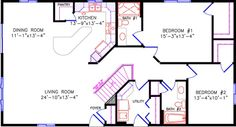 Love this layout with the two car garage off front at utility & 1 car garage off end of house