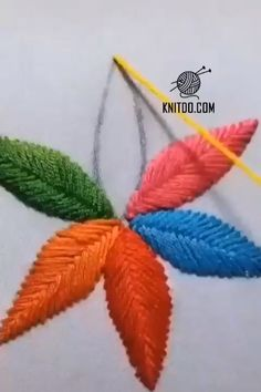 hand embroidery stitches tutorial step by step Funny Embroidery, Hand Embroidery Videos, Embroidery Stitches Tutorial, Embroidery Flowers Pattern, Creative Embroidery, Simple Embroidery, Learn Embroidery, Crewel Embroidery, Phulkari Embroidery