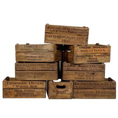 Original Old Wooden Decorative Boxes | See more antique and modern Boxes at https://www.1stdibs.com/furniture/decorative-objects/boxes
