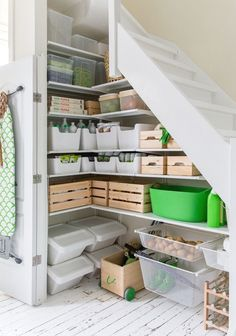 storage under stairs with ALGOT IKEA. Interior design & styling Celine Khemissi for Ikea Algot, Ikea Storage, Pantry Storage, Under Stairs Storage Ikea, Kitchen Organization, Kitchen Storage, Organization Ideas, Under Stairs Storage Solutions, Home Organization
