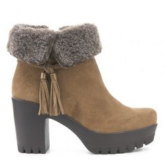 Botín tacón track piel DI FONTANA Outlet, Ankle, Shoes, Fashion, Winter, Women, Moda, Zapatos, Wall Plug