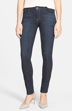 Wit & Wisdom Super Smooth Stretch Denim Skinny Jeans (Dark Navy) (Regular & Petite) (Nordstrom Exclusive) available at #Nordstrom