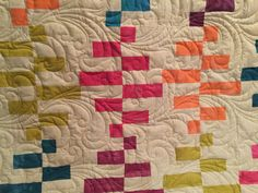 Here is a closeup of my Ripple quilt using a pattern by GE Designs.  Created by Kate Quinn of FabriKated Quilts