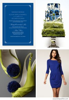 Wedding Inspiration: Something blue...and a little green, too!