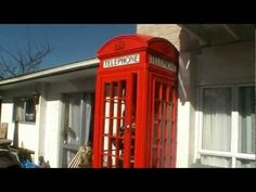 How we made our red English telephone booth - YouTube