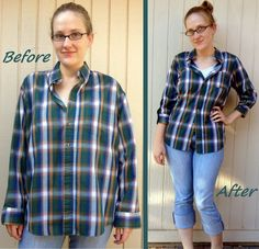 Plaid Shirt Refit #howto #tutorial