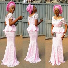 Aso Ebi Styles 2016 : Top and Skirt Styles .Aso Ebi Styles 2016 : Top and Skirt Styles . Nigerian Lace Styles, Nigerian Dress, African Lace Styles, African Dresses For Women, African Print Dresses, African Attire, African Fashion Dresses, African Women, Ghanaian Fashion